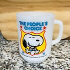 Vintage Snoopy for President Mug 1980 Collectors Series No 4 Milkglass Fire King