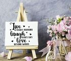 Live every moment Vinyl Sticker DecalWall DecorFront PorchDoorsCars