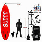 Inflatable SUP Stand Up Surfing Paddle Board Paddle W Accessories 6 in ThickUS