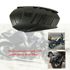 Motorcycle Rear Wheel Black Mud Fender Cover Splash Guard Mudguard w/Bracket