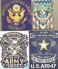 United States Army Veteran own forever finest served military gun eagle magnet
