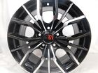 16x7 5x1143 Custom Wheels Rims SET of 4 Machined Black NEW