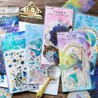 60 Sheets Pack Phone Decor Paper Sticker Galaxy Star Magic Stickers Diary Label