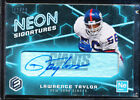 2018 PANINI ELEMENTS LAWRENCE TAYLOR NEON SIGNATURES BLUE AUTO 10 AUTOGRAPH