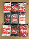 100 SUPREME AUTHENTIC HANDS TAGLESS TEE BOXER SOCKS FW19 S M L XL QTY 1