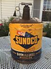 Vintage Sunoco 5 Gallon Dynalube SAE-30 Oil Can 1952 Advertising Gas Station Can