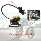 Motorcycle Hydraulic Rear Disc Brake Caliper w/Master Cylinder System 48cm Cable