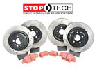 Stoptech Front + Rear Cross Drilled Rotors & Pads BMW 550i 650i F10 xDrive