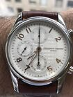 FREDERIQUE CONSTANT Runabout Silver Guilloche Leather Men's Watch FC-392RV6B6