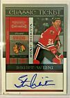 2010-11 Playoff Contenders Classic Tickets Autographs Stan Mikita 50 Blackhawks
