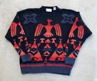 Vintage Thunderbird Knit Pullover Sweater size XL Native American Aztec Indian