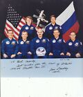 BILL READDY SIGNED STS 79 Astranaut 1996 Space shuttle Atlantis Crew Photo