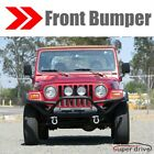 Textured Black Front Bumper Guard for 1987 2006 Jeep Wrangler TJ YJ W D ring