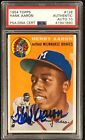 1954 Topps Hank Aaron #128 Rookie Card RC Signed Auto Graded PSA 10