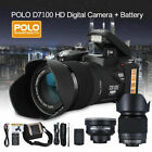 D7100 1080P HD 33MP 32MB Digital Camera DV Camcorder 24X Telephoto Lens Black