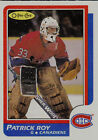 LOT 21 CARTES DE PATRICK ROY INCLUE RECRUE 1986-87 OPC # 53 ROOKIE