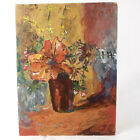 Original Oil Painting by Rumaner 12 x 16 Canvas Flowers and Vase Lovely