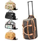 21 Rolling Wheeled Duffle Trolley Bag Tote Carry On Travel Suitcase Luggage