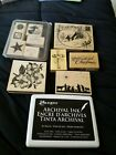 Lot of over 20 Stampin Up  Hero Arts Wood Mounted Nativity  Christmas Stamps