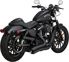 Vance  Hines Big Radius 2 into 2 Harley Exhaust System BLACK 46067 MADE IN USA
