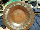 Arts And Crafts Brass Copper Sterling piece Plate Dish 925 marked
