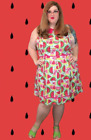 Modcloth All Eyes on Unique Dress in Watermelon Plus 3X