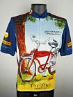 VTG Mens Peal Izumi New Belgium Brewery Fat Tire Amber Ale Cycling Jersey LG