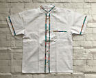 Mens Handmade Traditional White Mexican Guayabera Shirt Small Medium Large XL