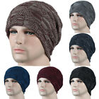 Mens Knitted Woolly Warm Beanie Hat Slouch Ski Skateboard Stretch Caps Windproof