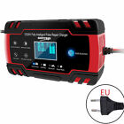 Lcd Car Atv 1224v 6-150ah Motorcycle Pulse Repair Battery Charger Agm Automatic