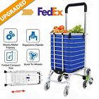 Foldable Shopping Cart Portable Handcart Trolley Rolling Grocery Climb Stairs