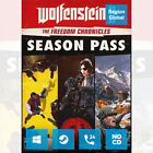 Wolfenstein II 2 The New Colossus Season Pass for PC Game Steam Key Region Free
