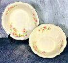 "Set of 2) Homer Laughlin 'Virginia Rose' Serving Bowls 8.25"" & 7.5"" EVC M24N8"