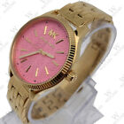 New Michael Kors MK6640 Lexington Pink Dial Women's Analog Stainless Steel Watch