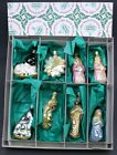 Inge Glas Collectible Nativity Set Of 8 Glass Ornaments Old World Christmas