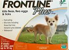 Frontline Plus 3 Pack 3 Months Supply For Dogs 0 22lbs 0 10KG Orange New