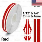 Red Roll Vinyl Pinstriping Pin Stripe Car Motorcycle Line Tape Decal Stickers