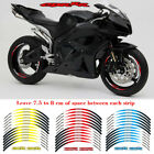 For Honda CBR RR RIM STRIPES MOTORCYCLE WHEEL DECALS TAPE STEREO PASTERS STICKER