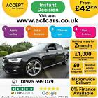 2012 BLACK AUDI A4 20 TDI 150 BLACK EDITION DIESEL SALOON CAR FINANCE FR 42 PW