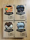 NEW Fuggler Lot of 4 Funny Ugly Monster Dolls Orange Brown Grey Teeth