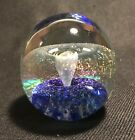 Robert Eickholt Fountain Bubble Iridescent Glass Paperweight Signed 1994