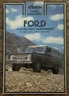Clymer Ford 4 Wheel Drive Maintenance Manual Bronco F 100 F 150 F 250 1969 1975
