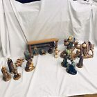 Nativity Set Holland Mold Ceramic Vintage Creche 1960s Large 17 Piece Detailed