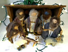 Wooden Nativity Set Lady and Friends inc1985 1988