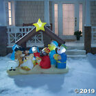 Christmas Decorations Inflatable Light Up Nativity Scene Outdoor Front Yard