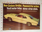 1969 Ford Mercury Cyclone SPoiler AD 1970 Goodyear GT Tire Haan parts Sunoco gas