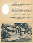 Brewerton, NY Plummer's Sunoco Service advertising bifold picture postcard