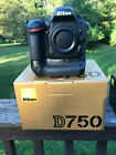 Nikon D750 24MP Body With MB D16 Battery Grip MINT 3500 Shutter Count