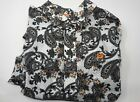 Cinch Shirt Large Paisley White Brown Orange NWT New