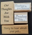 Bereavement Wood Mounted Stamps Used